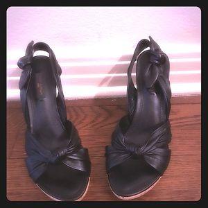 Louis Vuitton Porto Cervo Leather sling back heels